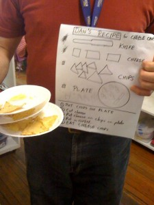 Dan's recipe for Cheesy Chips
